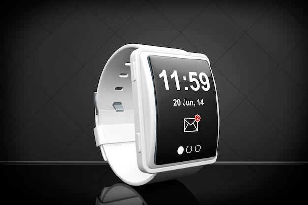 Grande montre intelligente conceptuelle sur fond noir