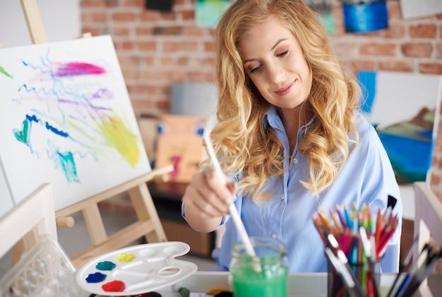 Grande passion de jeune artiste