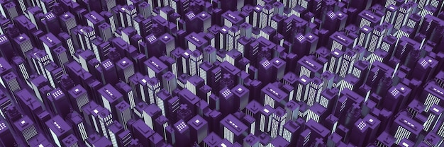 Grande ville en vue isométrique