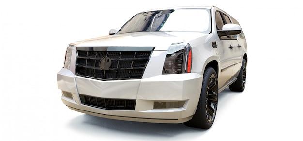 Grande voiture suv premium blanche