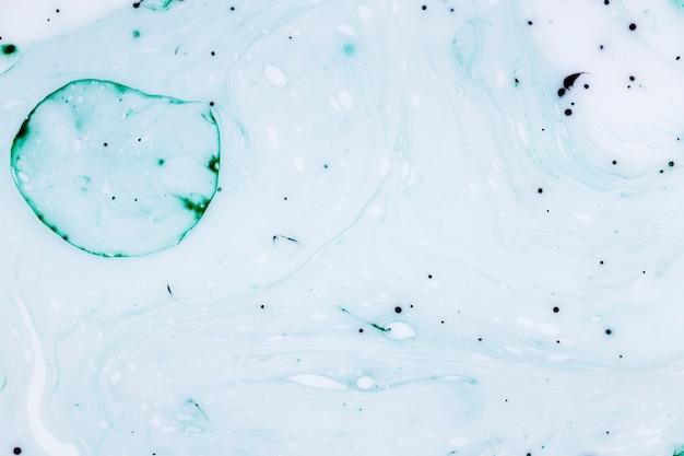 Grandes bulles et gouttes d'encre abstraites