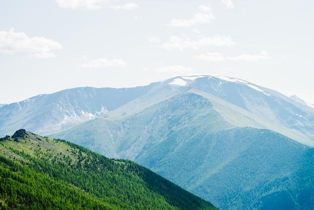 Grandes montagnes et forêt.