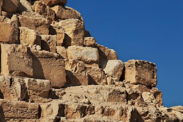Grandes pyramides de l'égypte ancienne à gizeh, le caire
