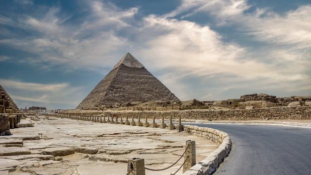 Grandes pyramides de gizeh, site du patrimoine mondial de l'unesco, egypte