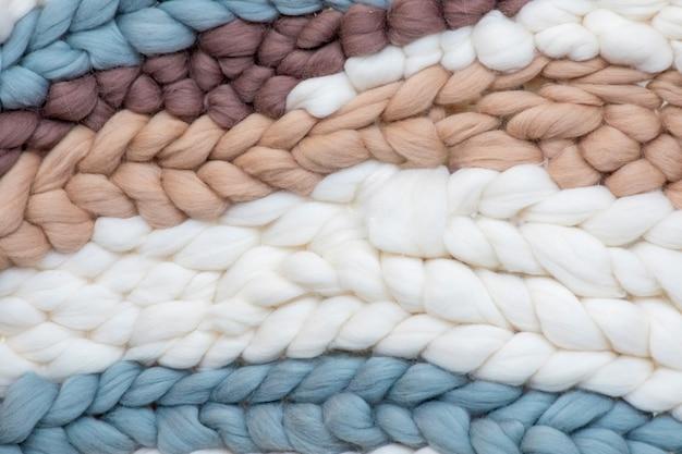 Grandes tresses de laine scandinaves moelleuses et douces