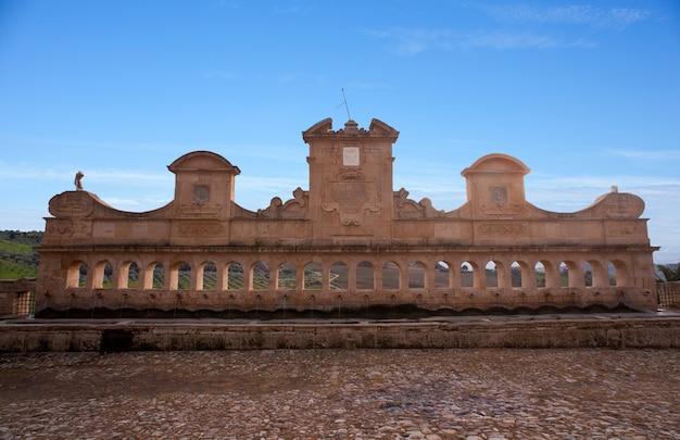 Granfonte, fontaine baroque à leonforte