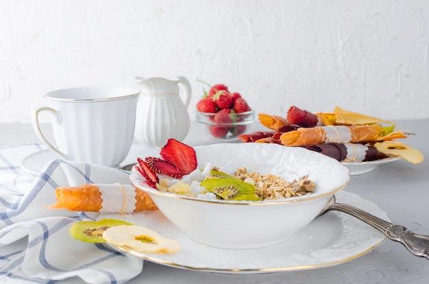 Granola maison pour un petit déjeuner sain