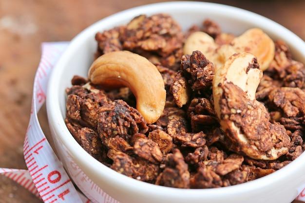 Granola sain avec noix de cajou