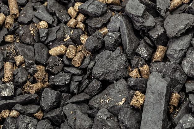 Granulés de charbon et de biomasse