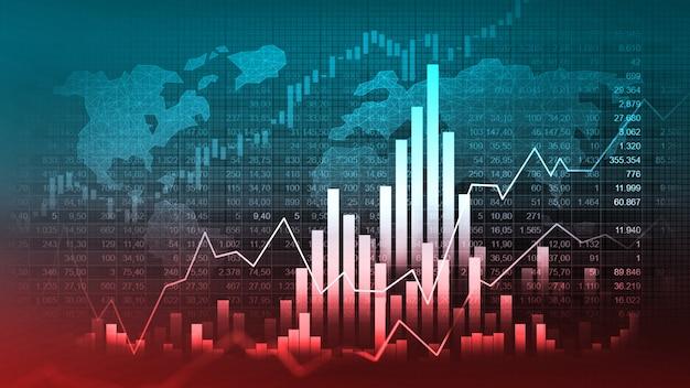 Graphique boursier ou forex dans un concept graphique adapté à l'investissement financier