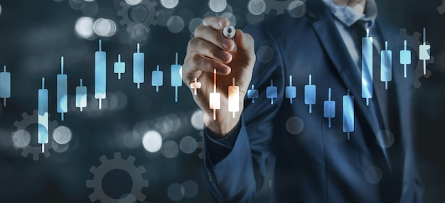 Graphique de croissance financière concept d'investissement.