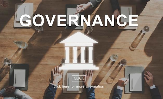 Graphique du pilier de la loi de l'autorité gouvernementale
