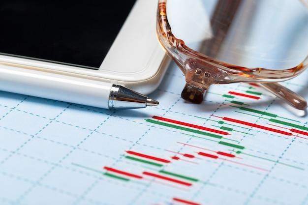 Graphique d'entreprise montrant le succès financier