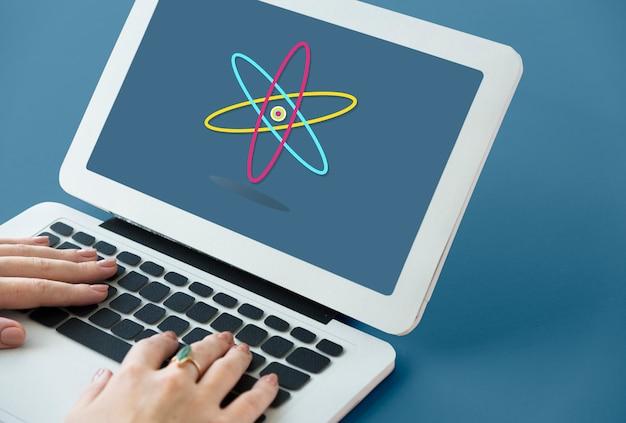 Graphique de l'expérience de l'étude des sciences de la vie de la molécule atomique