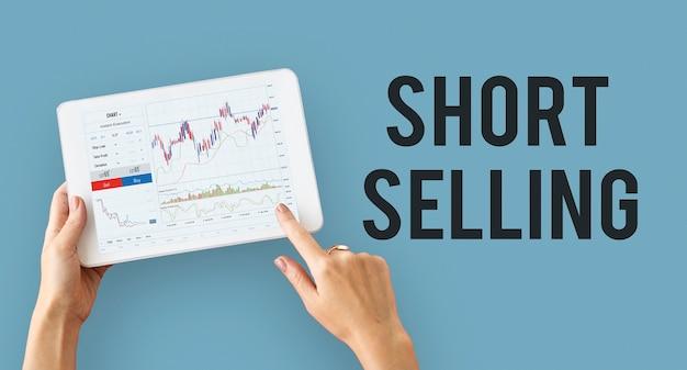 Graphique de graphique financier de bourse