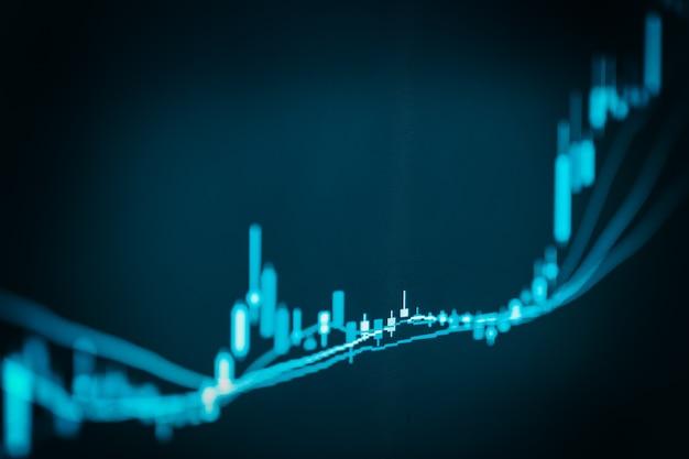 Graphique indiciel de l'analyse des données financières de bourse