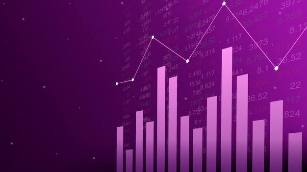 Graphique de marché boursier ou de trading forex