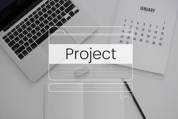 Graphique de notification de boîte de message de développement de planification de gestion de projet