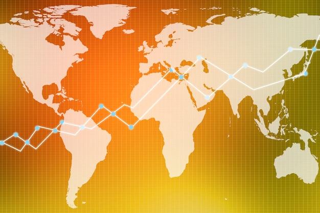 Graphique de trading double exposition