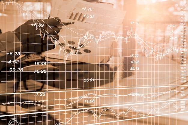 Graphique de trading forex pour concept d'investissement financier