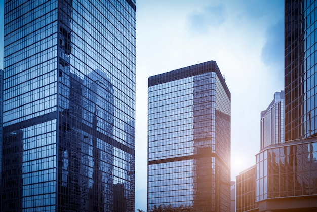 Gratte-ciel du bâtiment commercial de hong kong
