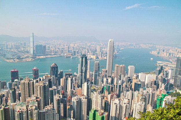 Gratte-ciel de hong kong skyline cityscape