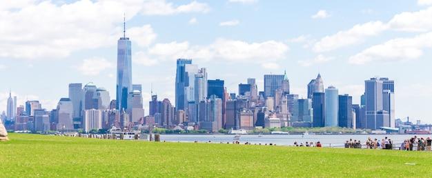 Gratte-ciel à lower manhattan, new york aux etats-unis