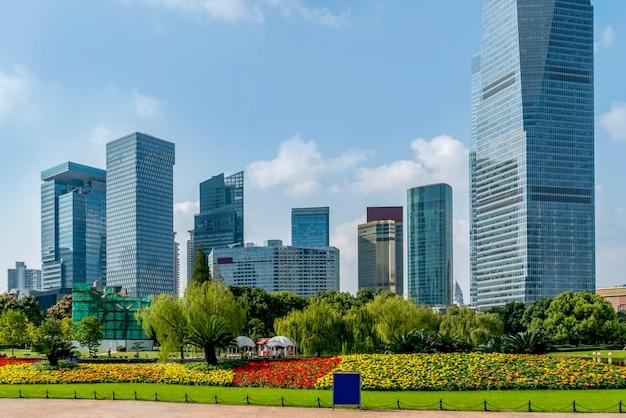 Gratte-ciels du quartier financier de lujiazui à shanghai