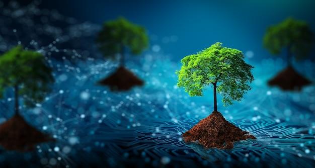 Green computing green technology green it rse et concept d'éthique informatique