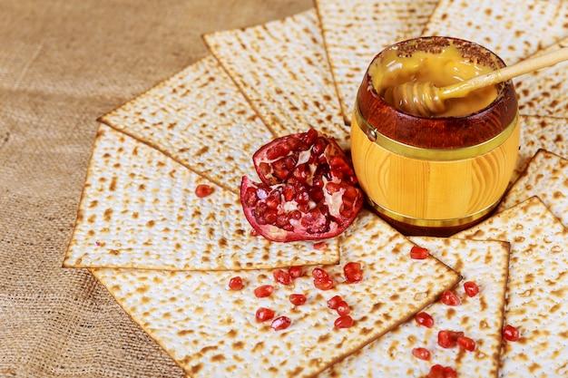 Grenade au miel pour les symboles de vacances traditionnels rosh hashanah jewesh holiday
