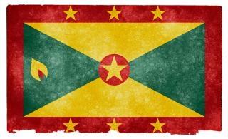 Grenade grunge flag