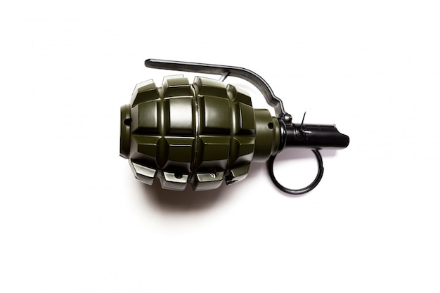 Grenade à main isolée