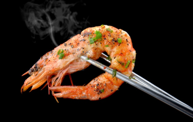 Grill barbecue aux crevettes