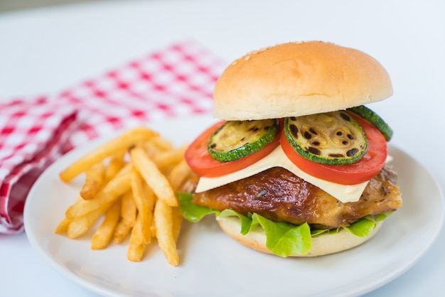 Grill hamburger de poulet