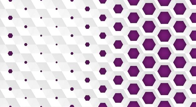 La grille blanche de cellules forme des nids d'abeilles hexagonaux de diamètre différent, qui vont du plus grand au plus petit et inversement