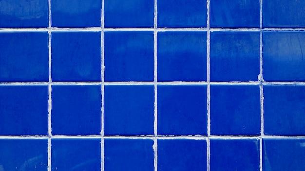 Grille de carreaux rétro bleu