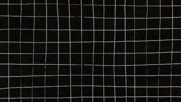Grille déformée sur fond d'écran noir