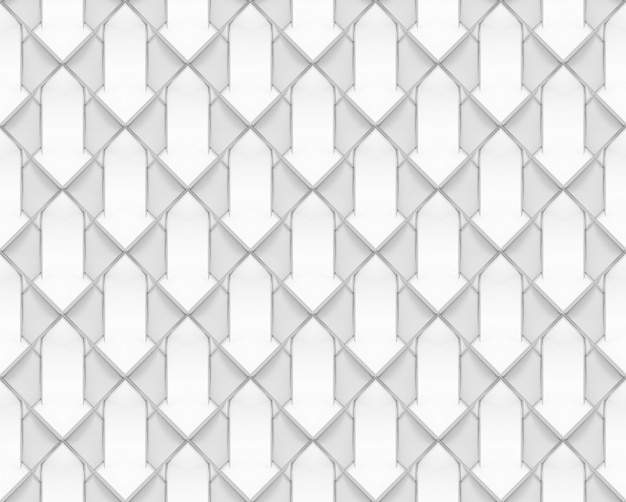 Grille géométrique blanche transparente motif tuile texture d'arrière-plan.