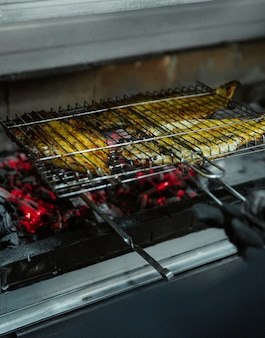 Griller du tabacca au poulet dans un grand four