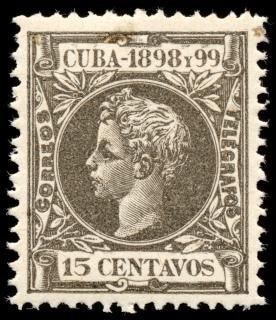 Gris roi alphonse xiii timbre