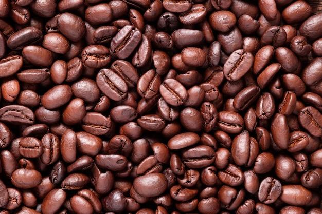 Gros grain de café torréfié