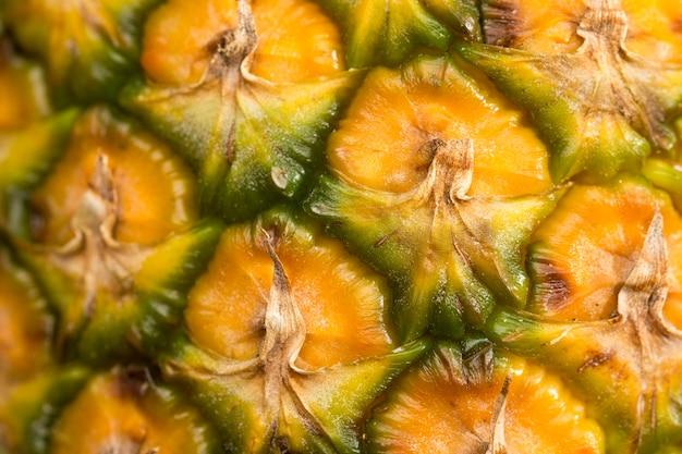 Gros plan, ananas, cosse, fond