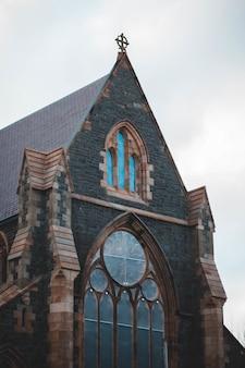 Gros plan de l'ancienne église