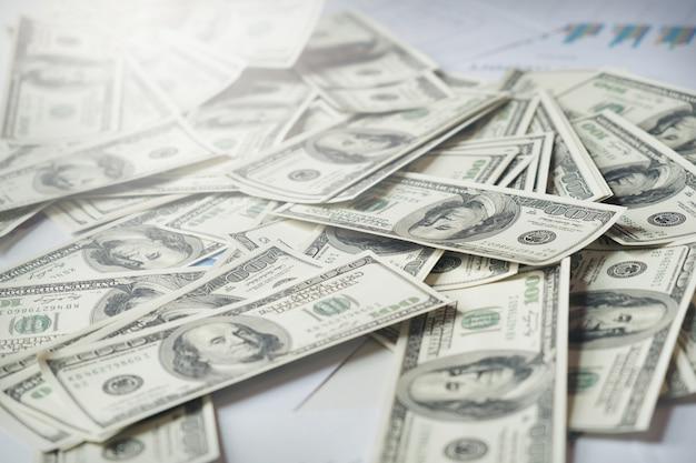 Gros plan, argent, fond, dollar américain