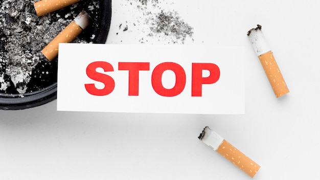 Gros plan arrêter de fumer