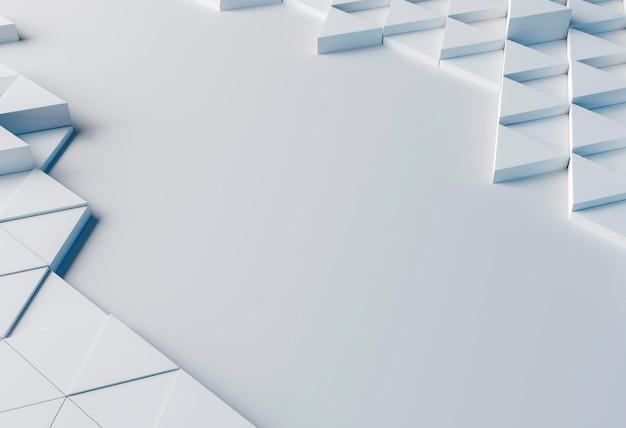 Gros plan d'arrière-plan créatif avec des formes blanches