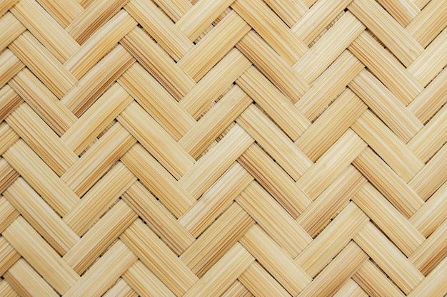 Gros plan de bambou tissé pour le fond