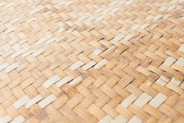 Gros plan de bambou tissé