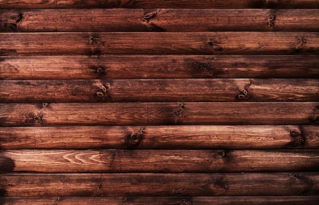 Gros plan de bardage en bois brun foncé pour le fond ou la texture
