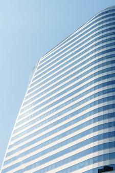 Gros plan, en bas, ville, bâtiment affaires